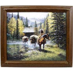 Framed Jack Terry Western Art Print