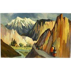 Original South American Landscape Painting
