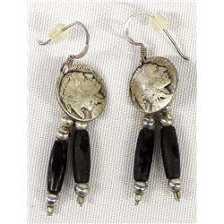 Pr  Buffalo Nickel Earrings
