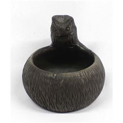 Cherokee Owl Pottery Bowl by Louise Bigmeat Maney