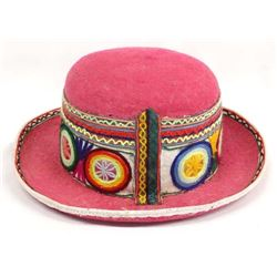 South American Peruvian Traditional Bowler Hat