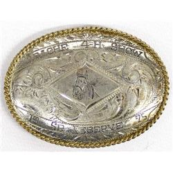 Apache 4-H Show Sterling & Nickel Silver Buckle