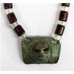 African Trade Bead Pendant Necklace