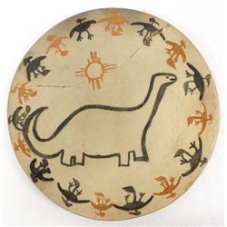 Santo Domingo Pottery Plate by Wm. Andrew Pacheco