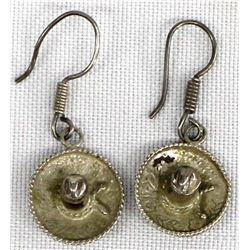 Mexican Sterling Silver Sombrero Earrings