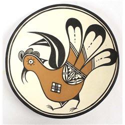 Acoma Pottery Shallow Bowl by Dean Reano