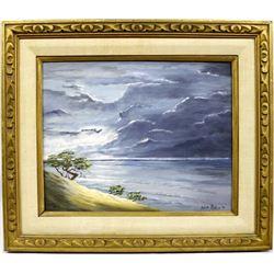 Original 1974 Walt Rollins Oil Landscape Painting