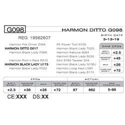 HARMON DITTO G098