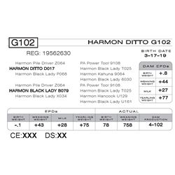 HARMON DITTO G102