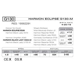 HARMON ECLIPSE G130 -M