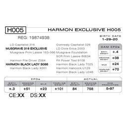 HARMON EXCLUSIVE H005