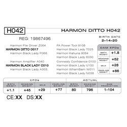 HARMON DITTO H042