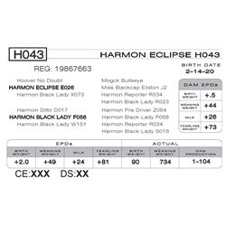 HARMON ECLIPSE H043