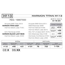 HARMON TITAN H113