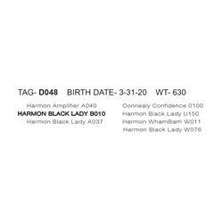 HARMON BLACK LADY D048