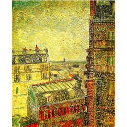 Van Gogh - View Of Paris From Vincents Room In The Rue Lepic