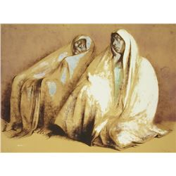 Dos Mujeres con Rebozos, Sentados (Two Women with Shawls, Seated) by Francisco Z