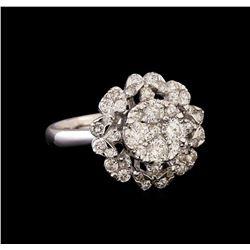 14KT White Gold 0.84 ctw Diamond Ring