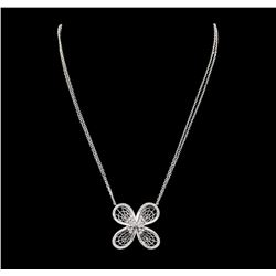 0.71 ctw Diamond Necklace - 14KT White Gold