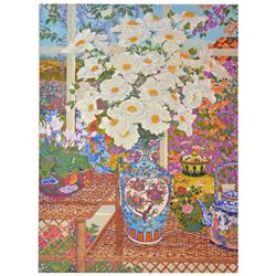 """John Powell, """"Cottage Garden"""" Limited Edition on Canvas, Numbered 249/300 and Ha"""