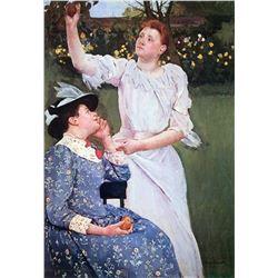 Mary Cassatt - Young Woman Picking Fruit