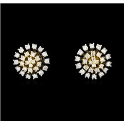 0.67 ctw Diamond Earrings - 14KT Two Tone Gold