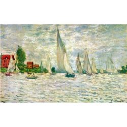 Claude Monet - Sailboats, Regatta in Argenteuil