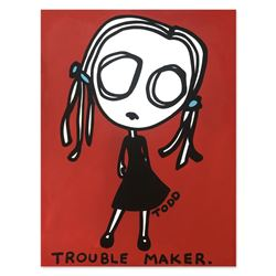 "Todd Goldman, ""Trouble Maker"" Hand Signed Original Painting on Canvas with Lette"