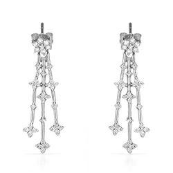 14k White Gold 0.50 ctw Diamond Earrings, (I1-I2/G-H)