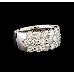 14KT White Gold 2.98 ctw Diamond Ring
