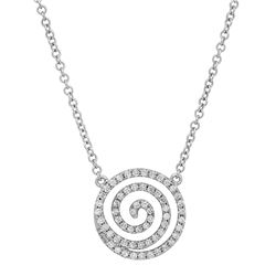 18k Gold 0.28CTW Diamond Necklace, (SI1-SI2/G-H)