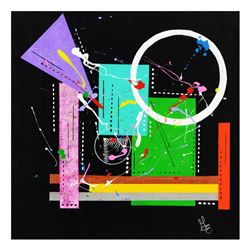 "George Marlowe, ""Mekanix"" Hand Signed Original Acrylic Painting on Canvas with C"