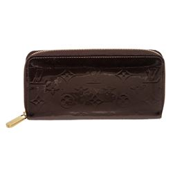 Louis Vuitton Amarante Vernis Monogram Zippy Wallet