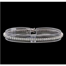18KT White Gold 2.51 ctw Diamond Tennis Bracelet