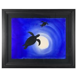"""Wyland, """"Ocean Silhouette 2"""" Original Painting; Hand Signed and Framed; Certific"""