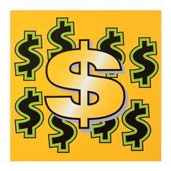 "Steve Kaufman (1960-2010), ""Dollar Sign"" Limited Edition Hand Pulled Silkscreen"