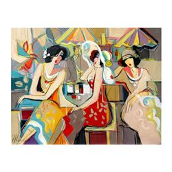 """Isaac Maimon - """"Spring Flowers"""" Original Acrylic Painting on Canvas, Hand Signed"""