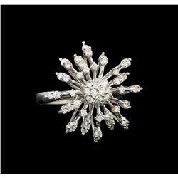 14KT White Gold 0.37 ctw Diamond Ring