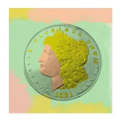 "Steve Kaufman (1960-2010), ""1881 Coin"" Hand Painted Limited Edition Silkscreen o"