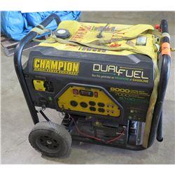 Champion 7000W Generator, Dual Fuel (Starts & Runs, Battery Required Jumpstart)