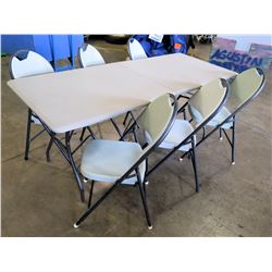 1 Table and 6 Chairs