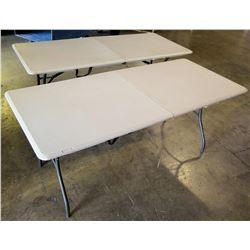 2 Lifetime 6' Folding Tables