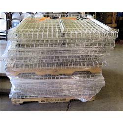White pallet rack decking