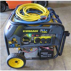 Firman 7500W Generator, Dual Fuel (Starts & Runs - See Video)