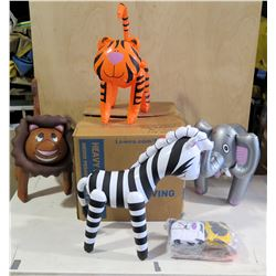 Qty 80 Zoo Animals Inflatables