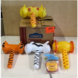 Qty 144 Zoo Animal Inflatable Hammers
