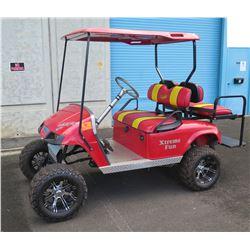 EZ GO Golf Cart w/ Jakes' Lift Kit & Rim Tires, Gas, Runs & Drives - See Video