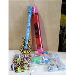 Mixed Box: Inflatable Crayon, Inflatable Guitar, Paddle Game