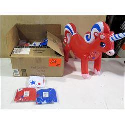 Qty 144 Patriotic Unicorn Inflatable