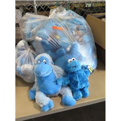 Qty 42 - Cookie Monster Plush and Qty 3 - Lg Gorilla Plush